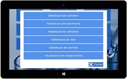 Visual of the statistics - Lacta'Box software